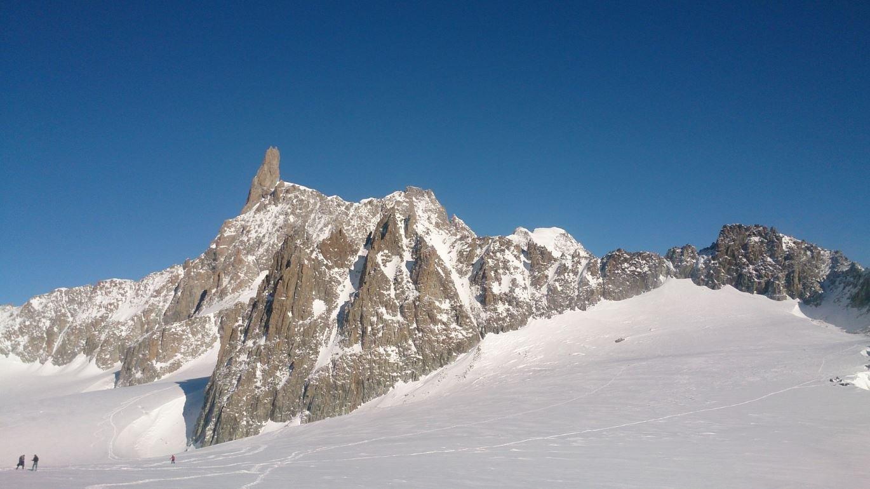 immagini scattate dal modernissimo impianto di salita al monte Bianco, inaugurato nel 2015